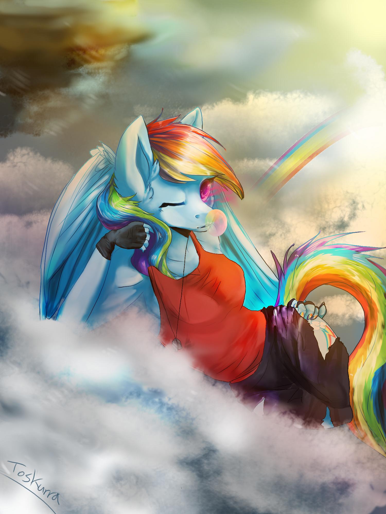Mlp anthro rainbow dash - photo#39