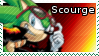 Scourge the Hedgehog stamp by z-e-p-p-y