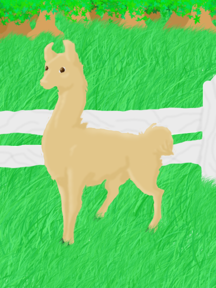 Little Llama by Kenekochan01