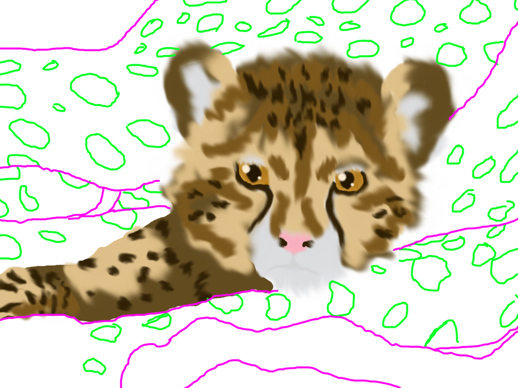Baby Cheetah and Ma- UN FINNISHED by Kenekochan01