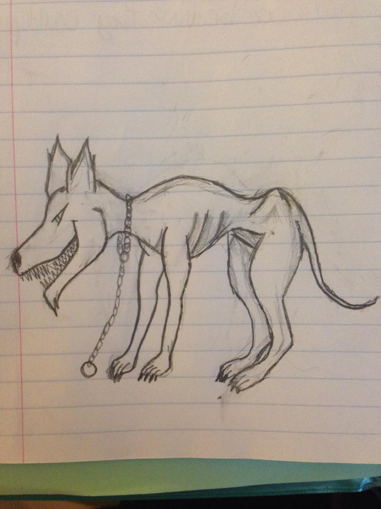 Creepy Dog Sketch by Kenekochan01