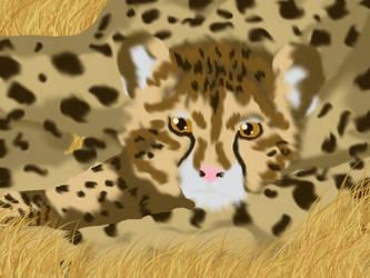 Cheetah Cub and Mama by Kenekochan01