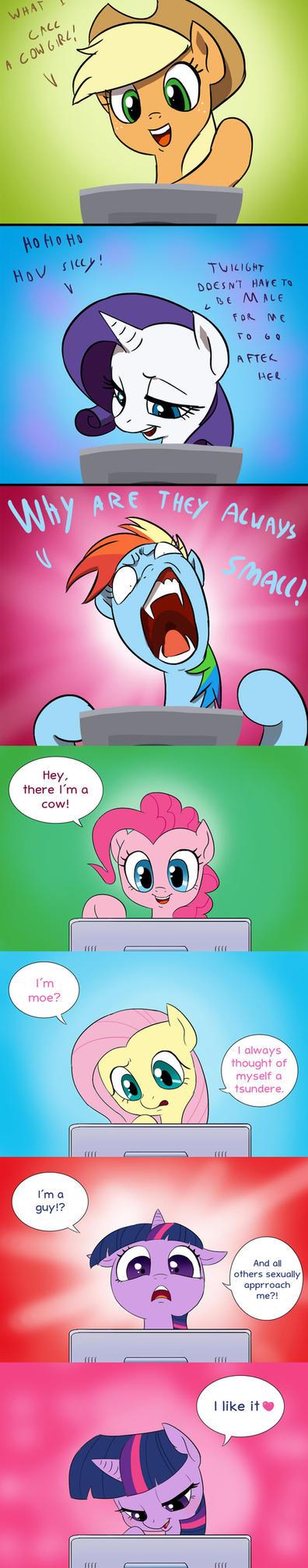Doki doki Omake: Pony reaction by xXAngeLuciferXx