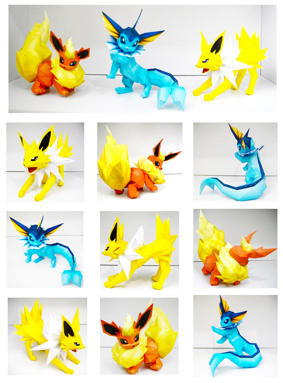 Eeveelution: Kanto by thepapersmith