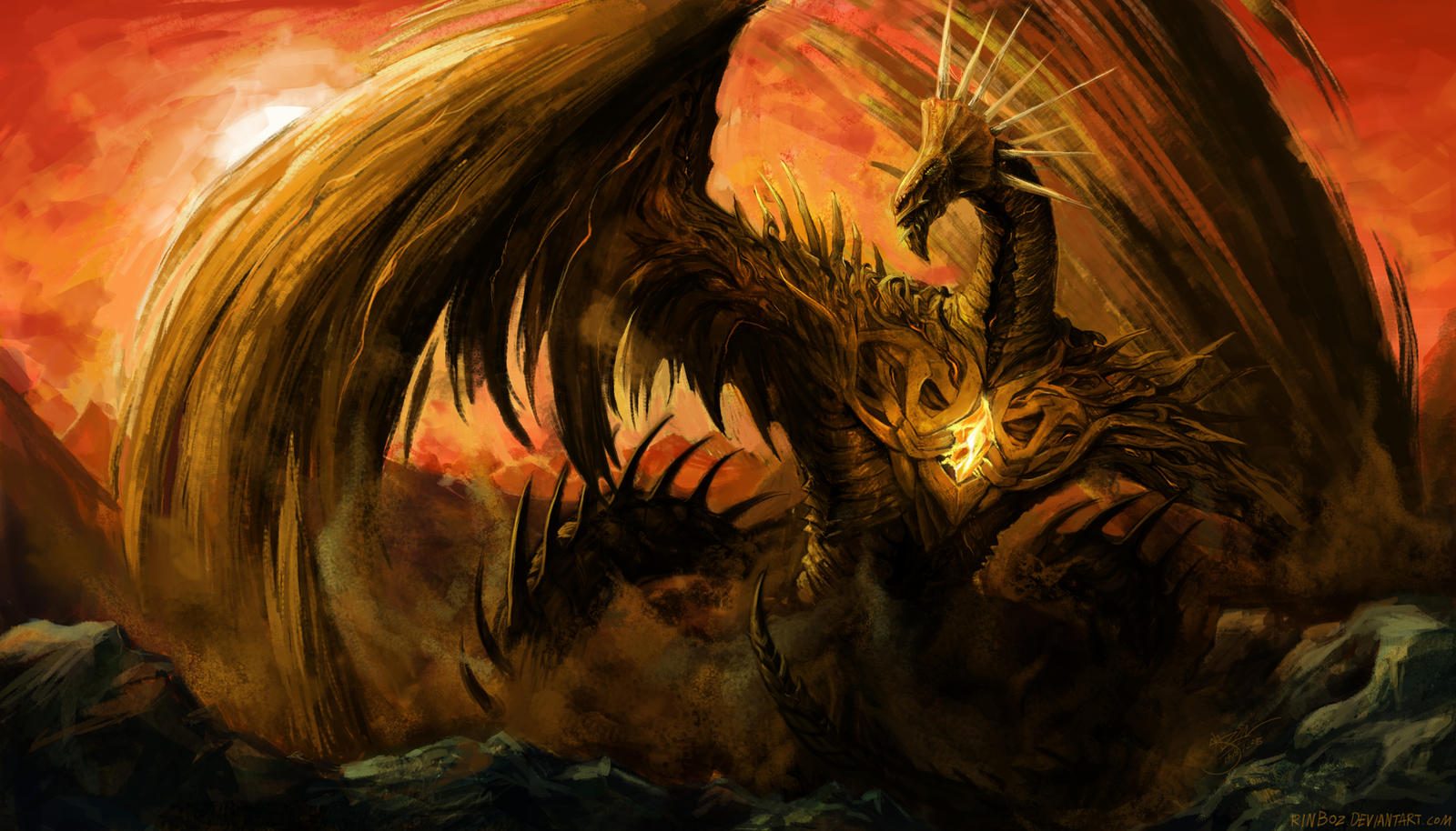 Ancient Earth Dragon By Rinboz On DeviantArt