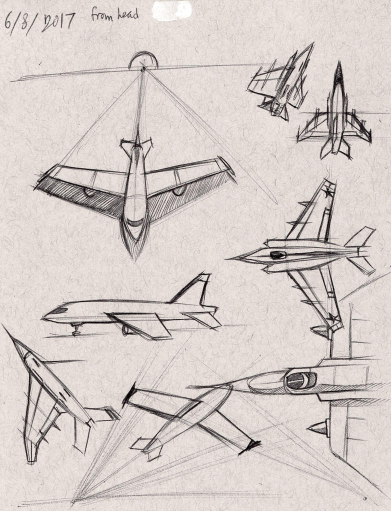 Aircrafts from head by ceruleus0