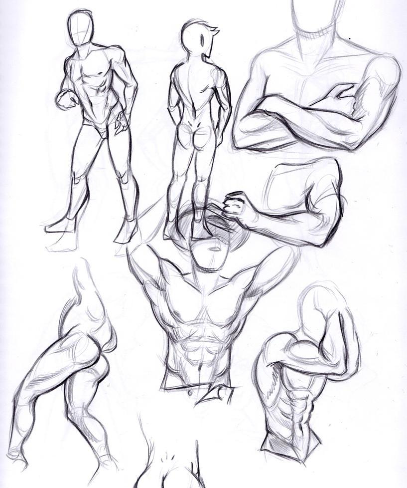 male sketch by ceruleus0