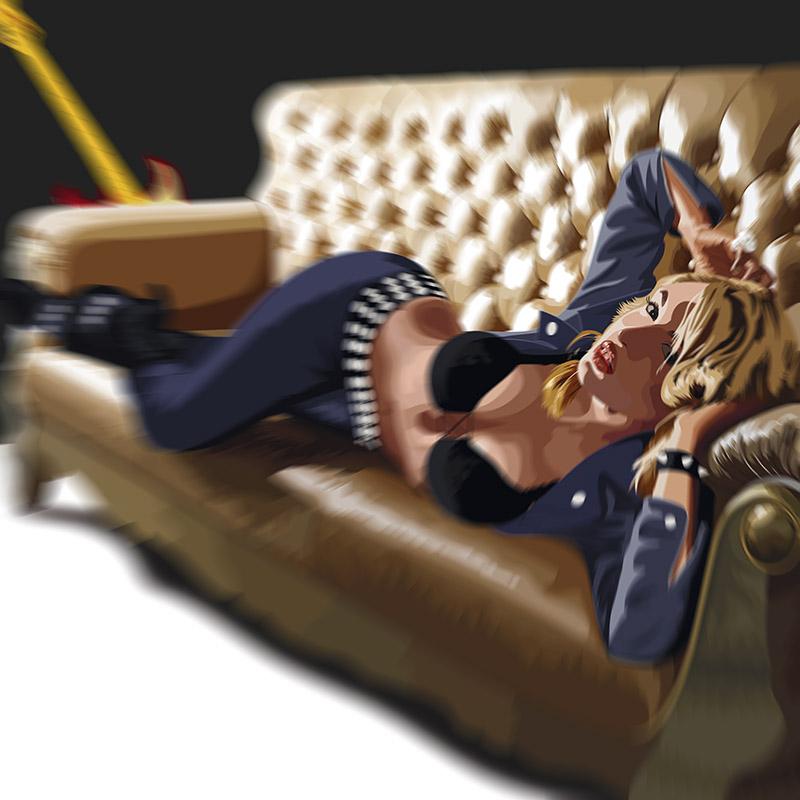 EP cover illustration - sofa by joseanderson