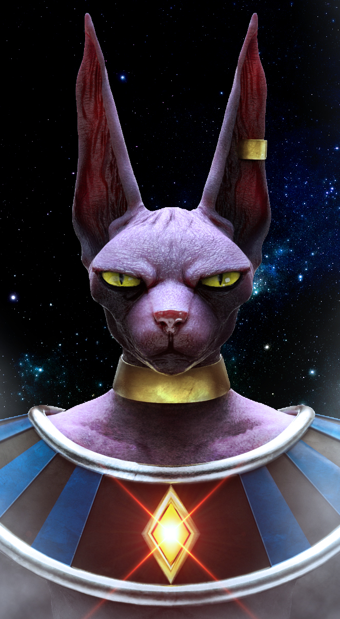 Lord Beerus - Bust Shot by MnStrptrSkrn
