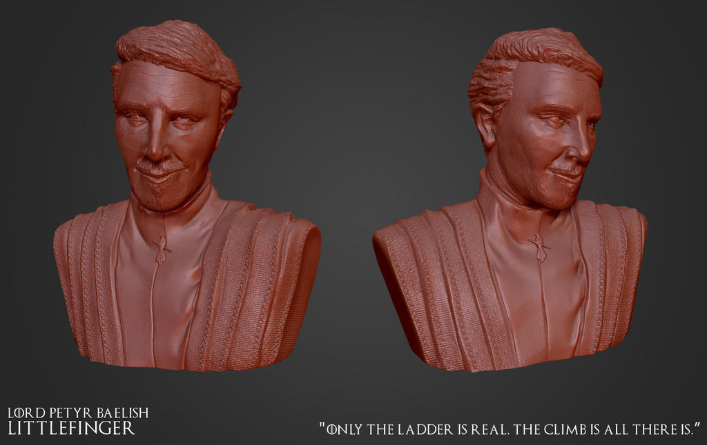 Petyr Baelish - Speed Sculpt Bust by MnStrptrSkrn