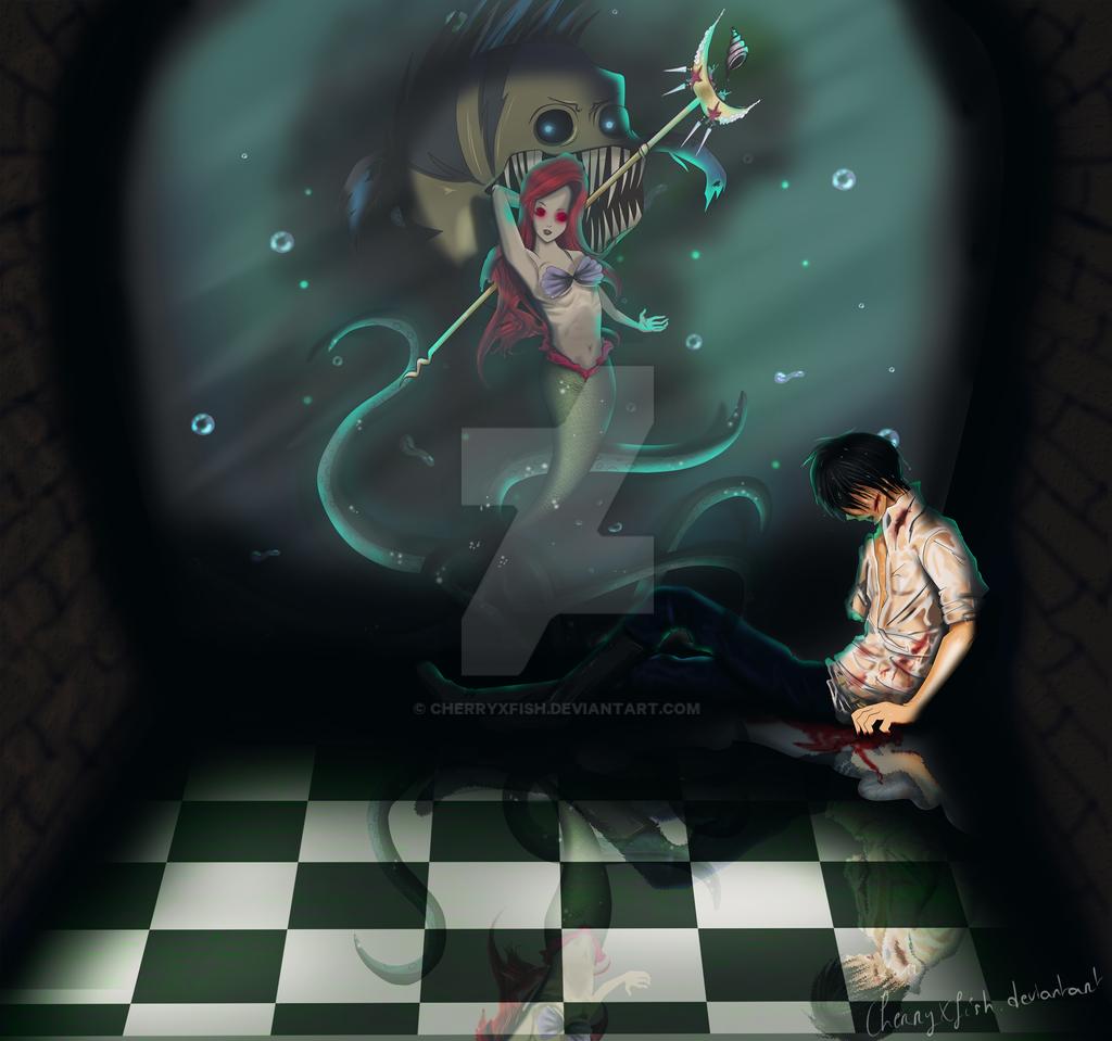 Disney Necromancers : The Little Mermaid by CherryxFish