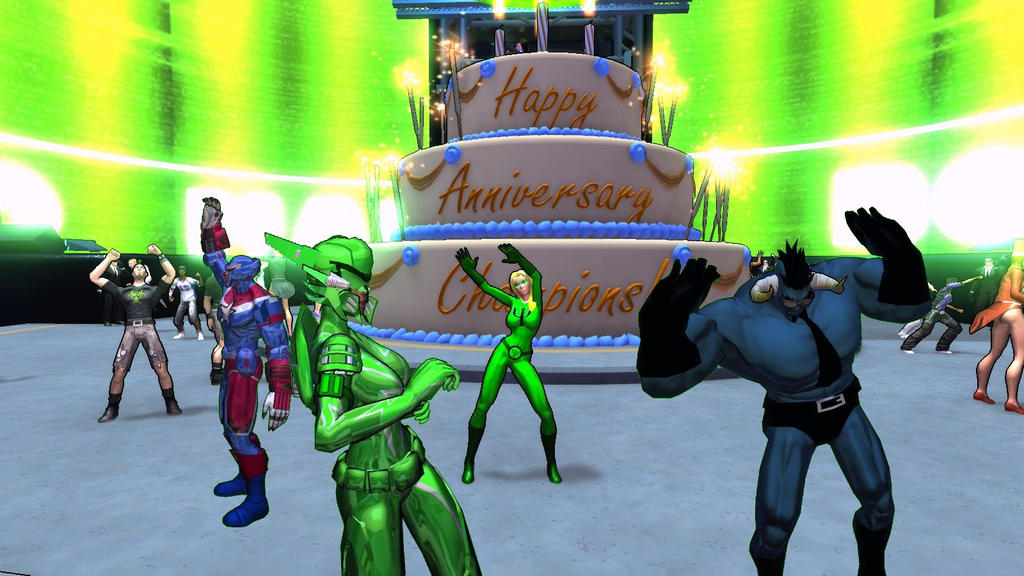 Champions Online 5th Anniversary by HarveyHarpy