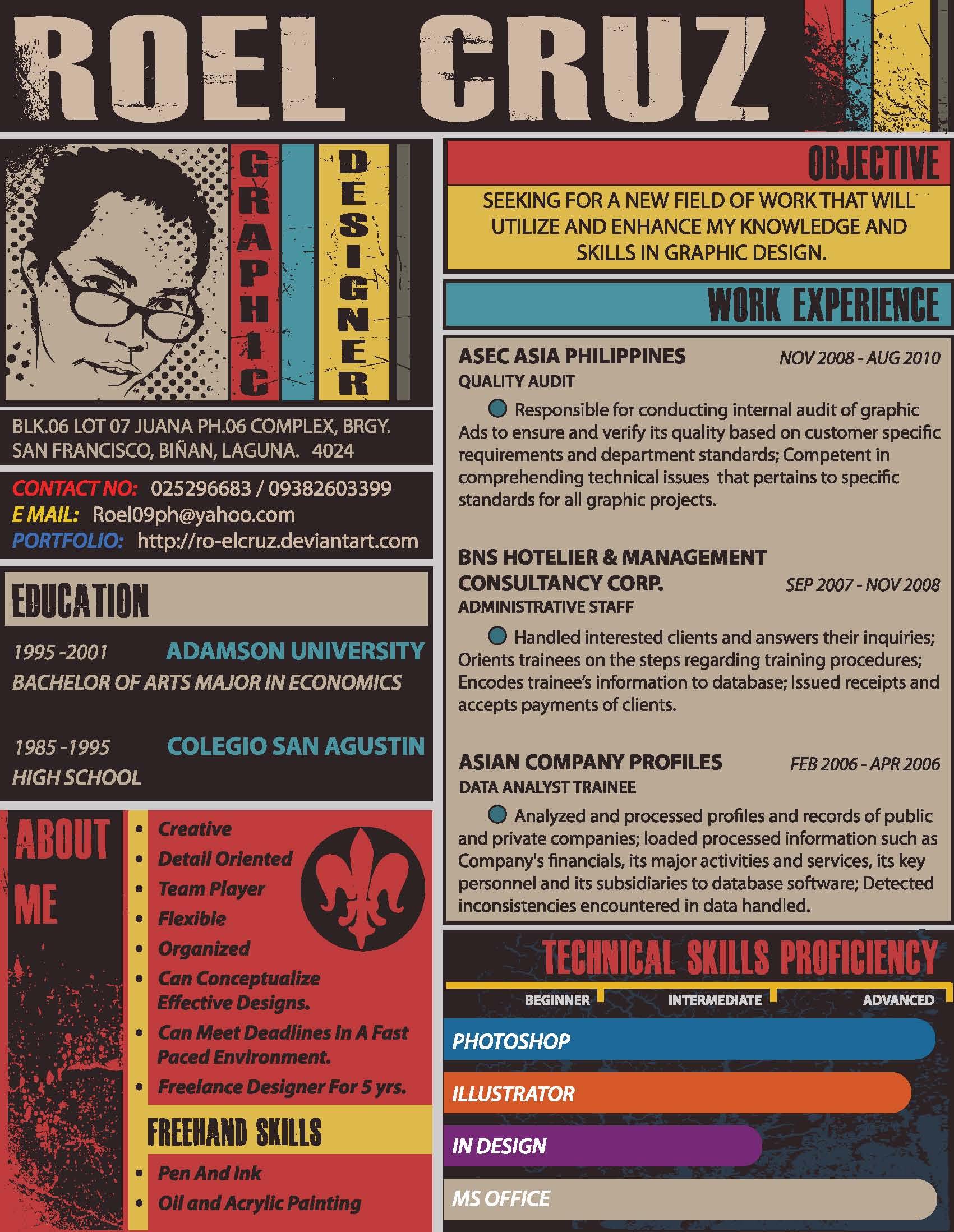 60 creative and funky resume designs