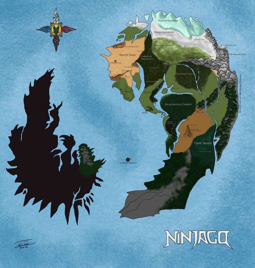 Map of ninjago by joshuad17 on deviantart map of ninjago by joshuad17 gumiabroncs Image collections