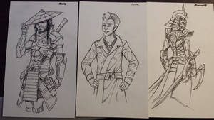 Ronin,  Dareth and Samurai X