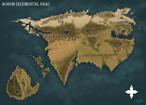 Map of Aurum (Elemental Era)