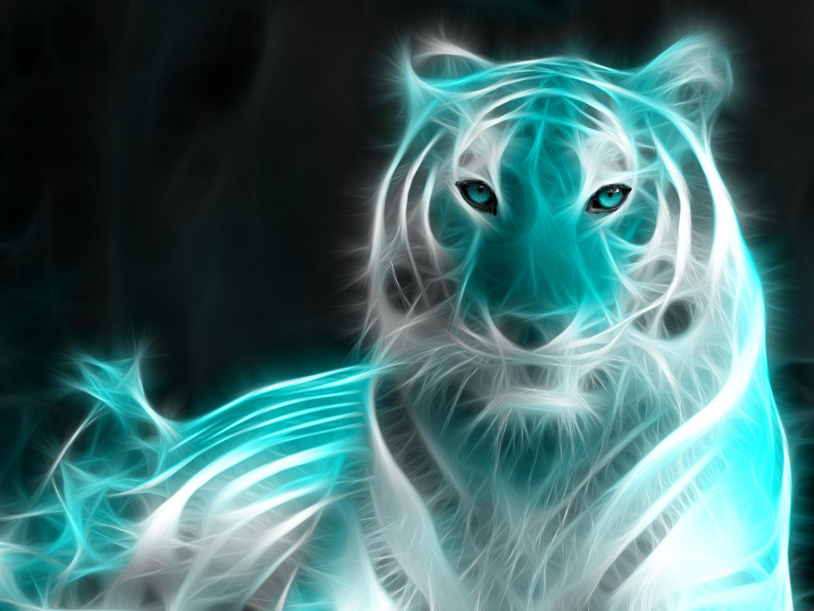 Light animal fractle effect by mint spinner on deviantart - Cool animal wallpaper light ...
