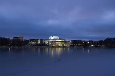 Helsinki Opera House at Dusk