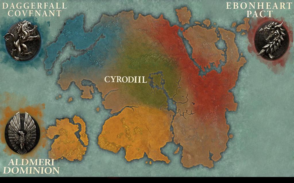 The Elder Scrolls Online Map by davidk120 on DeviantArt