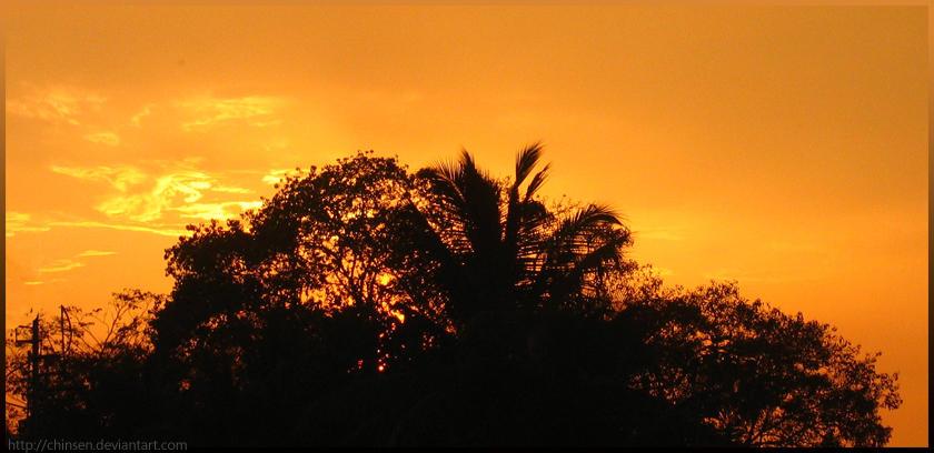 Sri Lankan Sunset by Chinsen