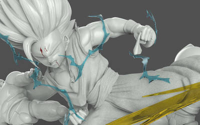 Son Gohan Bakuhatsu by GVDigitalSculptor