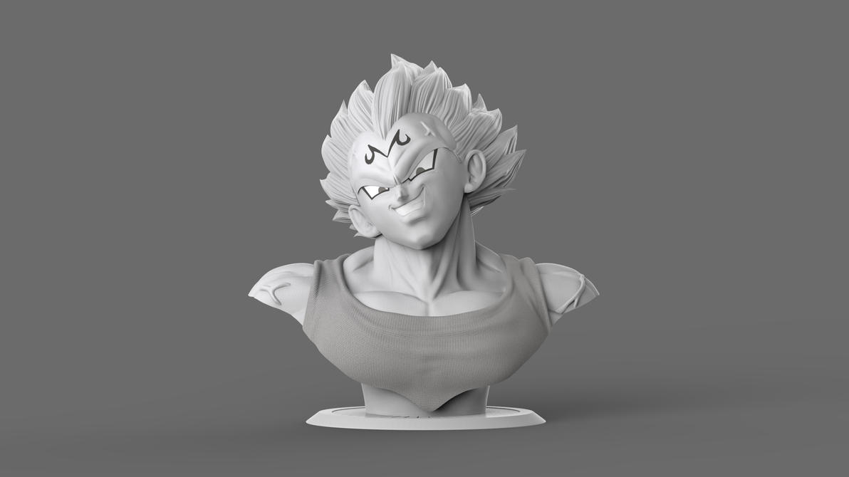 Majin Vegeta by GVDigitalSculptor
