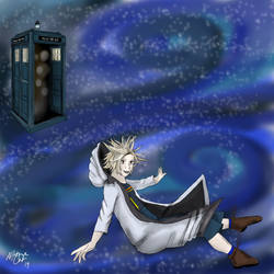 That jumping out of the TARDIS habit by Nightmare-Cat-Art