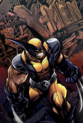 X-men Wolverine  (colors) by hope42morr0w