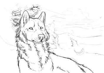 Dawn:Sketch about character and environment part 1 by SaQe
