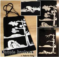 Kaunis kuolema - fabric bag by SaQe