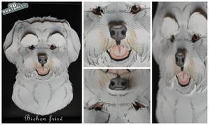 3D - Portraits: Bichon Frise by SaQe