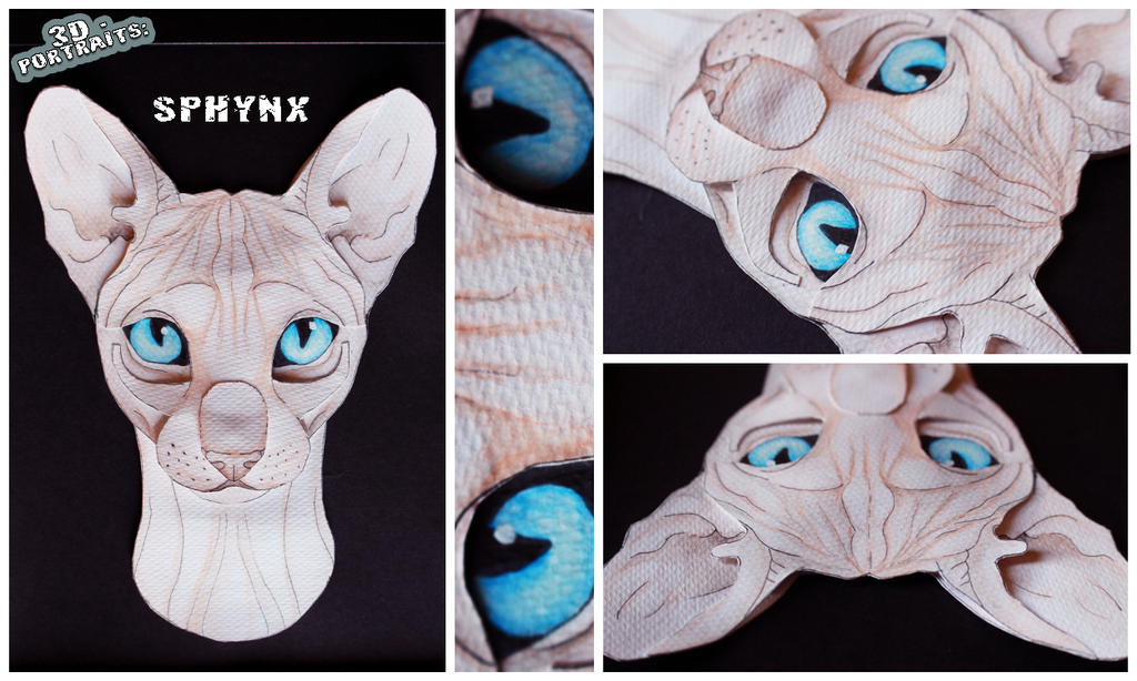3D - Portraits: Sphynx by SaQe
