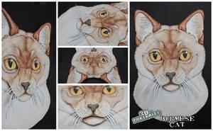 3D - Portraits: Burmese cat by SaQe