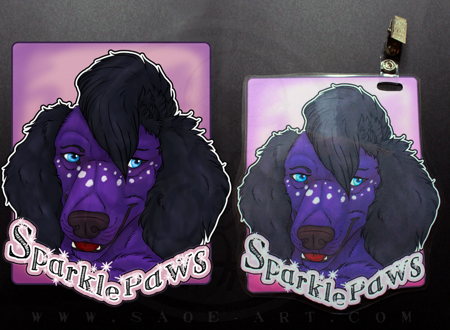 Commissions: SparklePaws - badge by SaQe