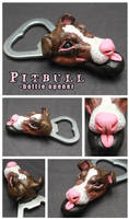 Chocolate Pitbull - bottle opener by SaQe