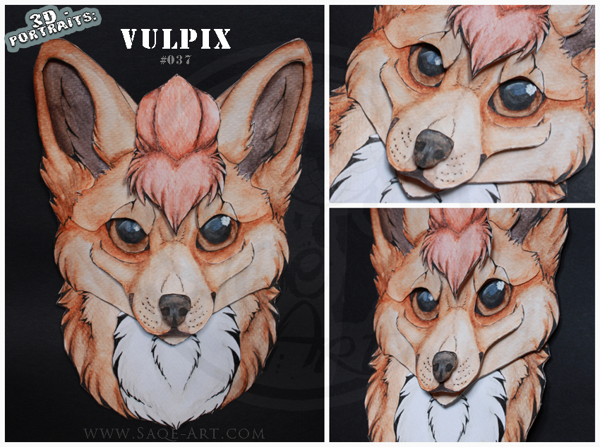 3D - Portraits: Vulpix by SaQe