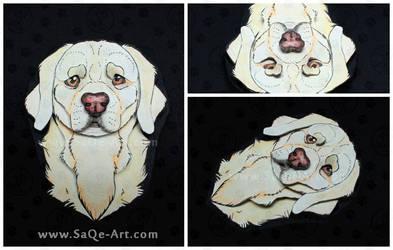 Commissions: 3D - Portrait - Golden by SaQe