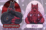 Commissions: Ikutoma - Iku double side badge by SaQe