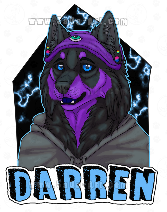 Commissions: Darren -badge by SaQe
