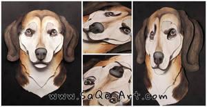 Commissions: 3D - Portrait - Beagle mix