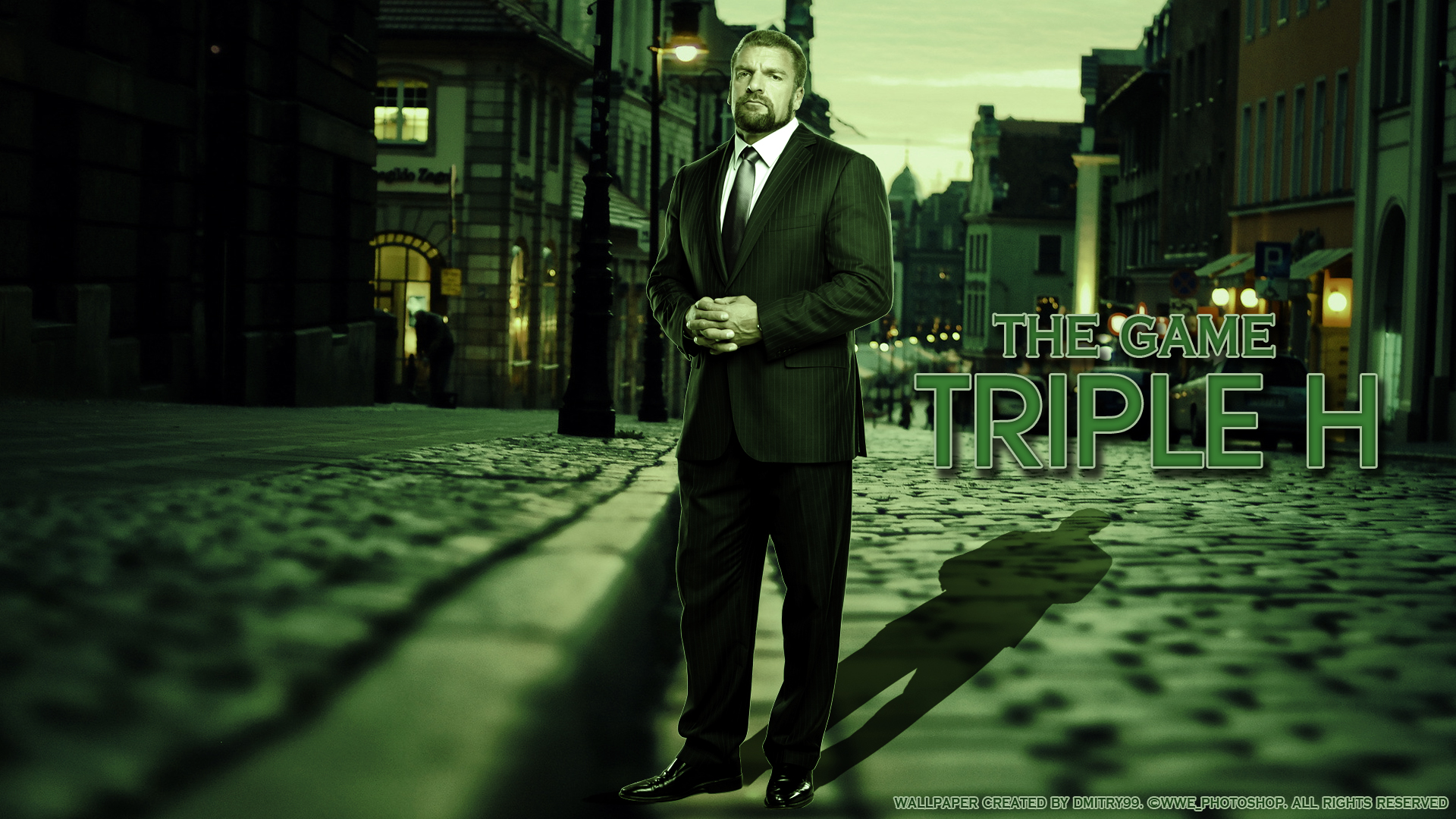 Triple H HD Wallpaper By Dmitrykozin99