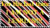 im not a lesbian stamp by Doorsaredangerous