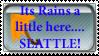 rainy seattle stamp by Doorsaredangerous