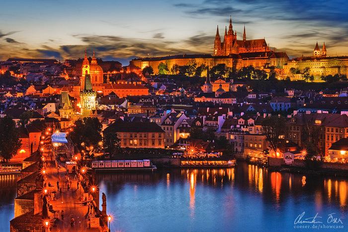 City of Prague by Nightline