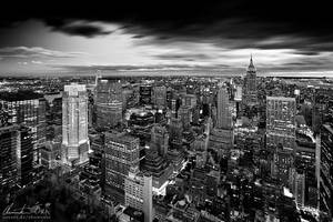 Magic skyline of New York bw by Nightline