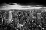 Magic skyline of New York bw