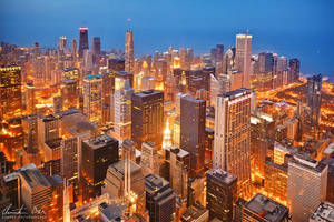 Chicago skyline at night 2 by Nightline