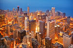 Chicago skyline at night 2