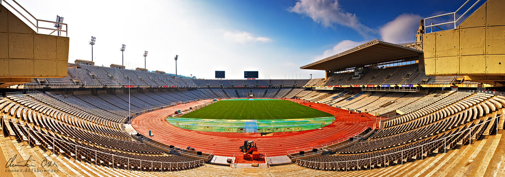 Olympic Stadium Barcelona by Nightline