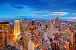 Magic skyline of New York